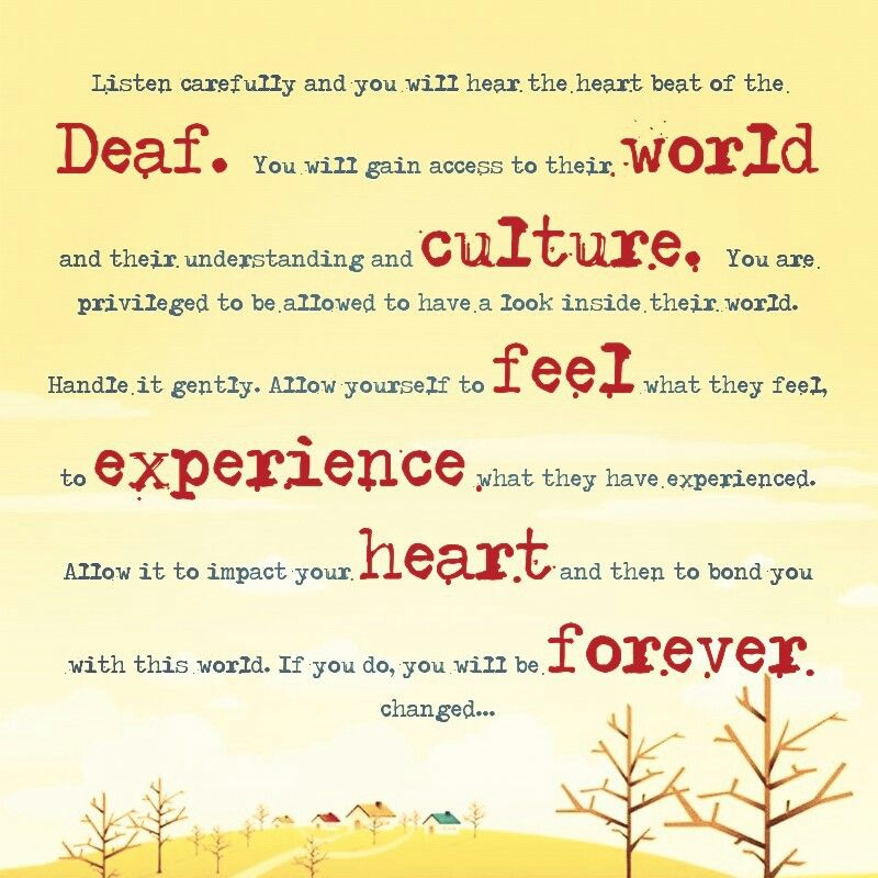 Experience The Deaf World By Jane Emerson