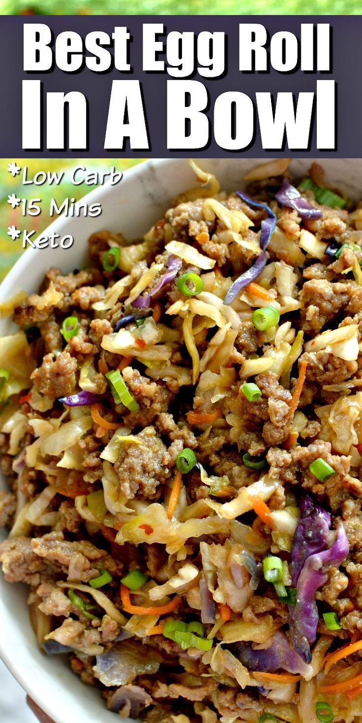 Best Egg Roll In A Bowl LOW CARB