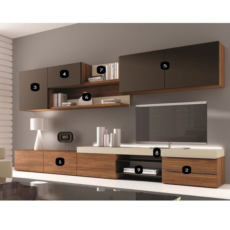 meuble mural tv design osane atylia meuble tv. Black Bedroom Furniture Sets. Home Design Ideas