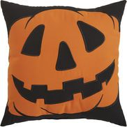 Jack-o'-Lantern Pumpkin Pillow - Black