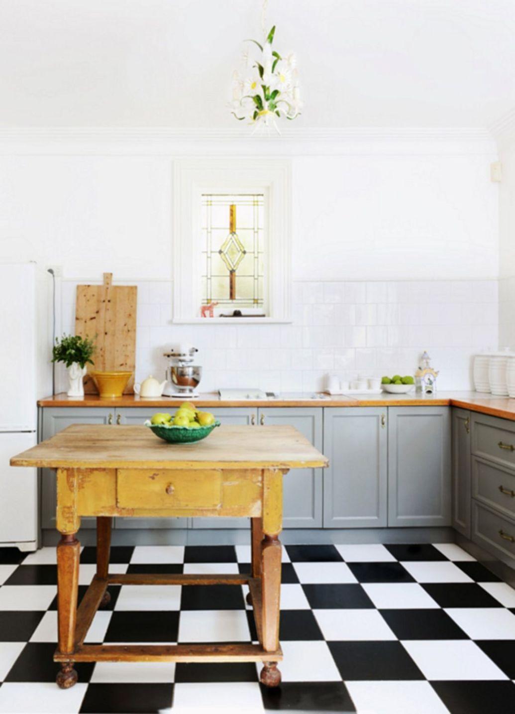 Elegant black and white floor tile color ideas 0500
