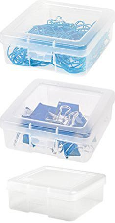 Small Plastic Storage Boxes Iris Small Modular Supply Case 10 Pack Clear Small Pla Plastic Box Storage Small Plastic Storage Boxes Small Plastic Storage