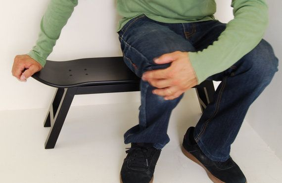 Skate board stool decorating teenagers gift awesome, sports, furniture, teen, children, skateboard boy, kids