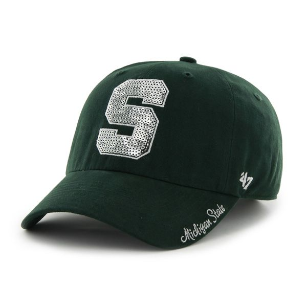Michigan State Spartans 47 Brand Women s Sparkle Bling Adjustable Hat - Low  Prices   Quick Shipping at Detroit Game Gear c4e87c92b