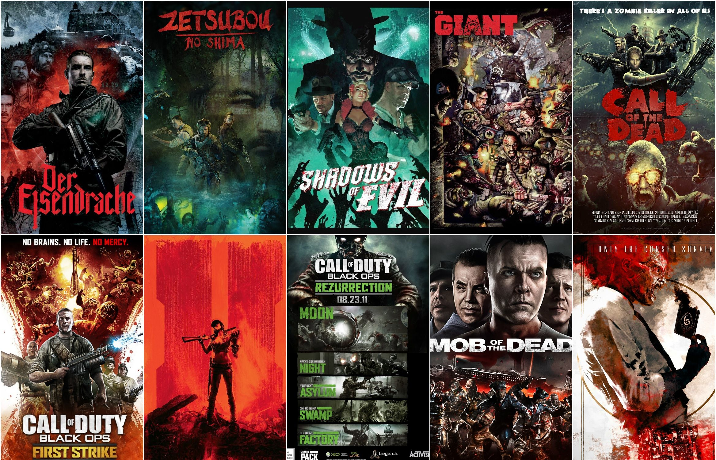 A unique set of Call of Duty Posters You can choose to ... on call of duty black ops zombies pack, black ops rezurrection map pack, call of duty escalation pack,