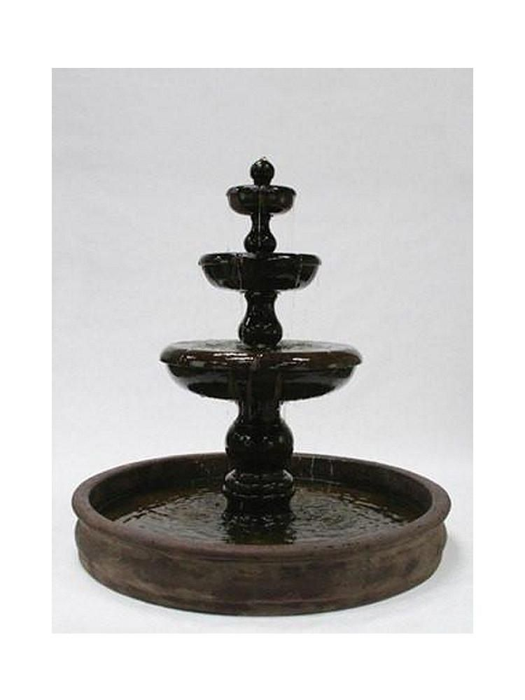 Classic 3-Tier Outdoor Water Fountain With 74 inch Basin | Outdoor ...
