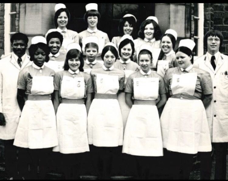 Nurses at st lukes hospital finishing their exams 1973 in