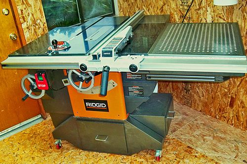 Decked Out Ridgid Model R4511 Table Saw 12 The Unveiling Before And After By Paul Stoops Lumberjocks Com Best Circular Saw Rigid Table Saw Table Saw