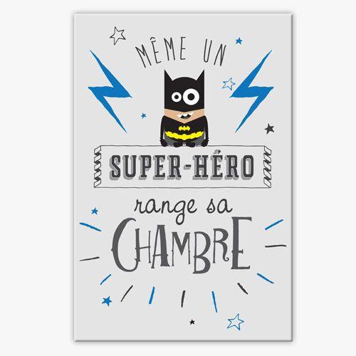 Tableau d co chambre enfant super h ro corentin deco chambre deco chambre enfant chambre - Deco chambre super heros ...