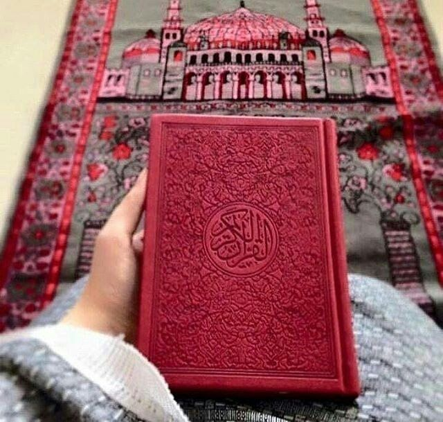 That Stillness And Silence When Ur Reading Quran On Your Prayer Mat Quran Book Quran Islam