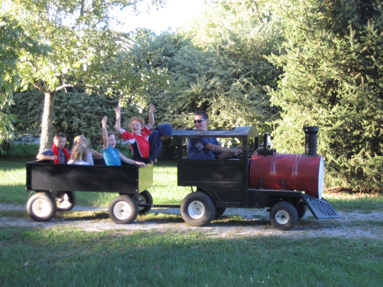 Trackless Train I built a few years ago. | Backyard for ...