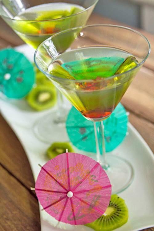 Today's #Recipe: Kiwi-Strawberry Melon Martini