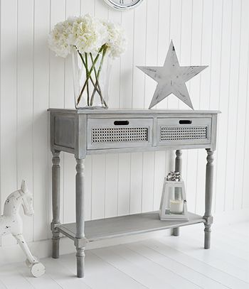 The White Lighthouse Grey Console And Sofa Tables For Your Living Room And  Hallway. British