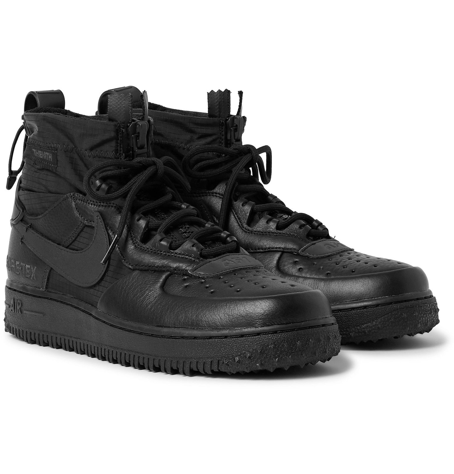 ilegal Mariscos Mascotas  Nike - Air Force 1 Winter GORE-TEX and Leather High-Top Sneakers - Men -  Black | Nike air shoes, Nike shoes air force, Sneakers men