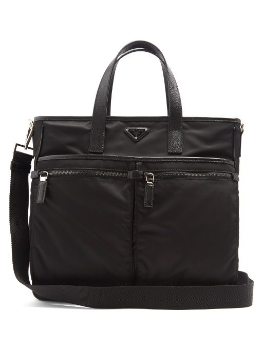 3b8baa5f19102c PRADA Leather-Trimmed Nylon Tote. #prada #bags #lace #tote #leather #lining  #shoulder bags #hand bags #nylon #