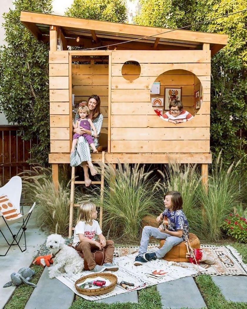 Une Cabane Diy Pour Les Enfants Shake My Blog Cabane Diy Fort De Jardin Cabane Exterieur Enfant