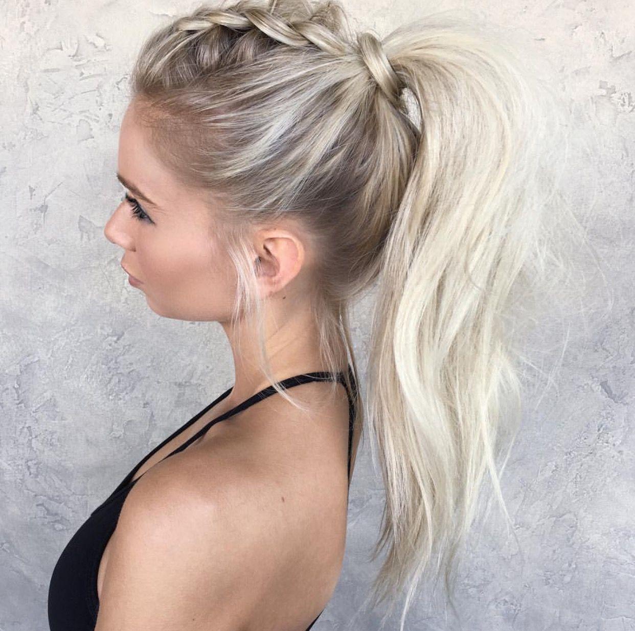 Mohawk ponytail braid halloween pinterest hair styles hair