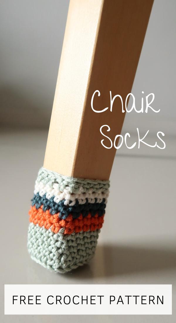 FREE Chair Socks Crochet Pattern