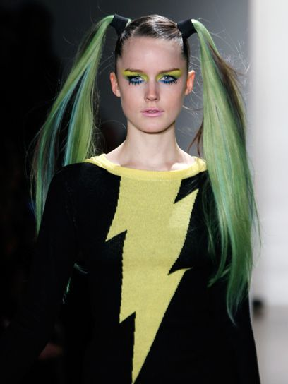 On the runway at Jeremy Scott Fall 2011.