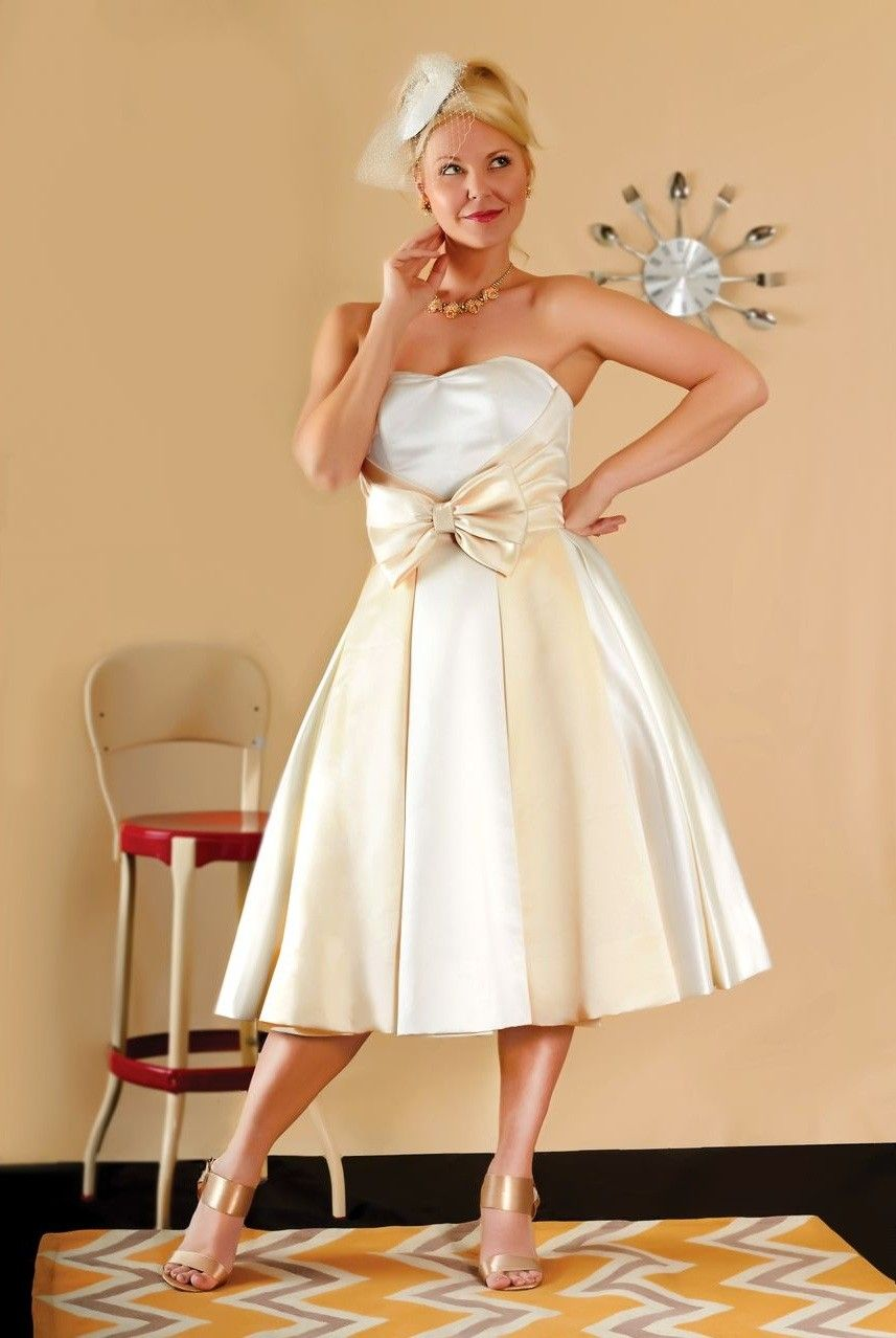 Short 50s Style Wedding Dresses | brandis, 50\'s wedding, short ...