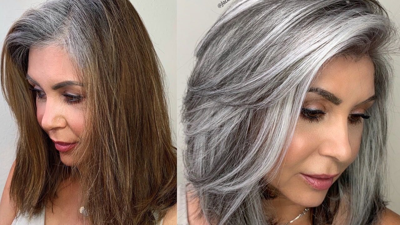 A Colorist Explains How To Get The Silver Hair Of Your Dreams In 2020 Gray Hair Growing Out Blending Gray Hair Natural Gray Hair
