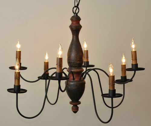 Details About Lancaster 5 Arm Wooden Chandelier In Black