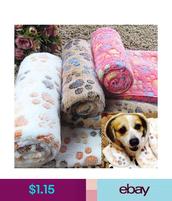 Winter Soft Warm Cozy Paw Print Fleece Pet Blanket Puppy