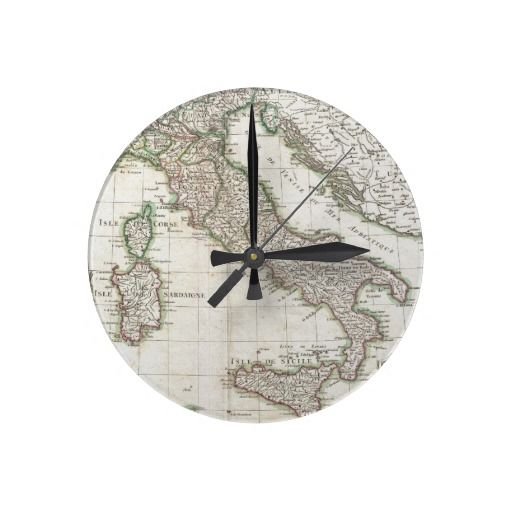 Vintage Map of Italy (1770) Wall Clock