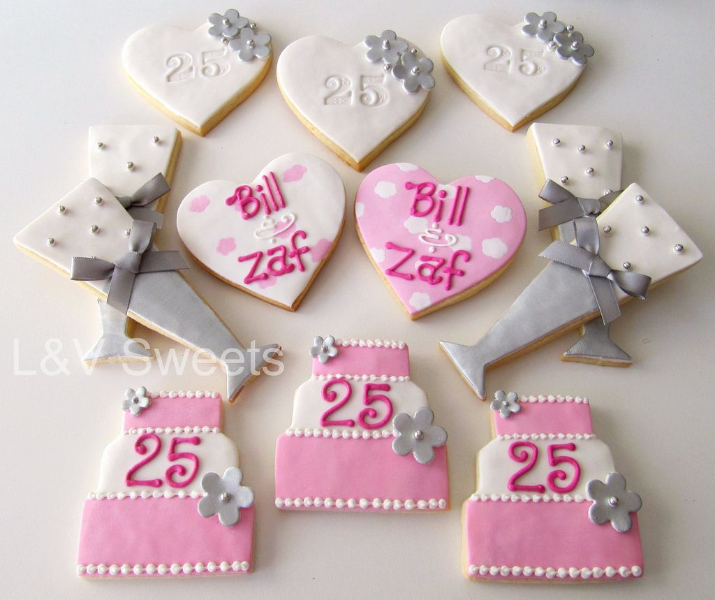 25th Anniversary cookies | Anniversary cookies and 25th anniversary