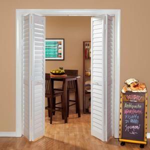 Home Fashion Technologies 28 In X 80 In 3 In Louver Louver White Pvc Composite Interior Bi Fold Door 7302880100 Interior Doors For Sale Doors Interior French Doors Interior