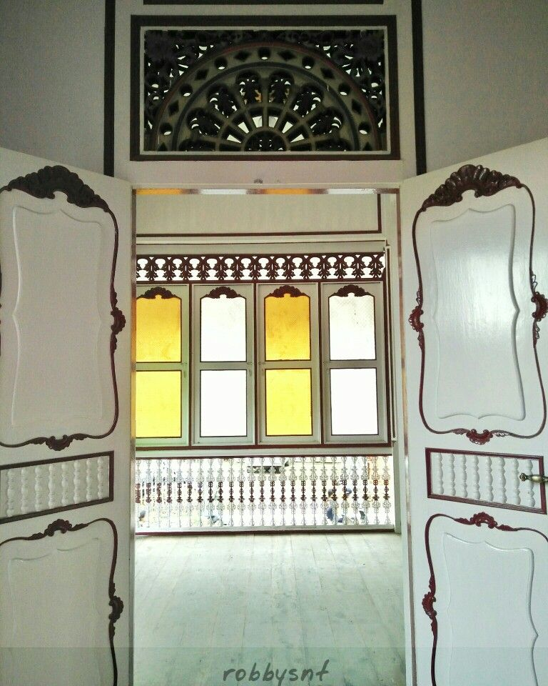 Interior of Palembang traditional house.