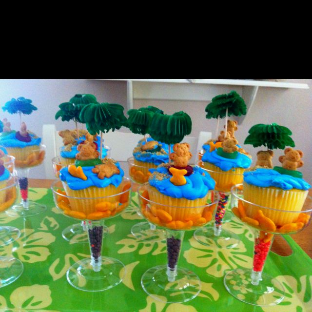 Cupcakes For Our Pool Party :)