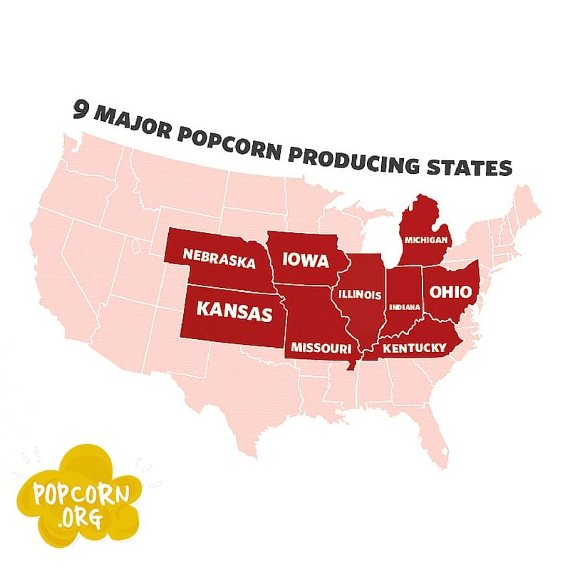 Did You KnowMost Of The Worlds Popcorn Is Grown In The United - Is nebraska in the united states