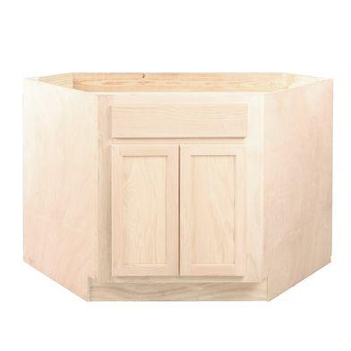 Diagonal Corner Sink Base Oak Cabinet Kitchen Cabinets Finished Bathroom Decoration Furniture Corner Sink Oak Cabinets Base Cabinets