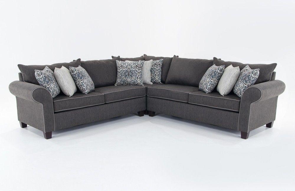 Ashton 3 Piece Sectional | Pinterest | Bob s, Sectional living room ...