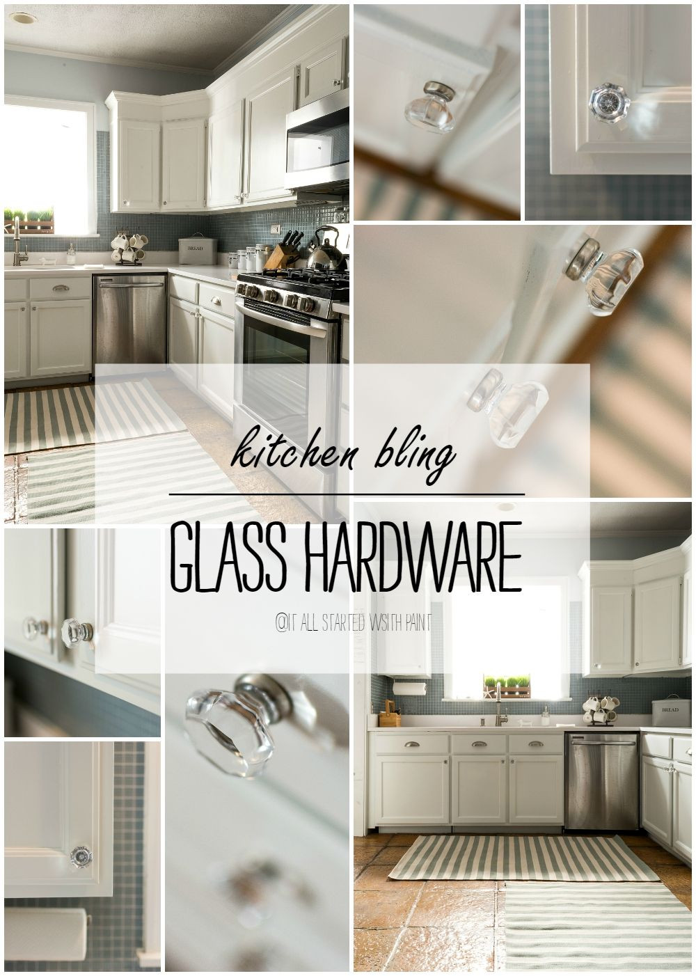 Glass Hardware In Kitchen Antique White Kitchen Antique White Kitchen Cabinets White Kitchen Cabinets