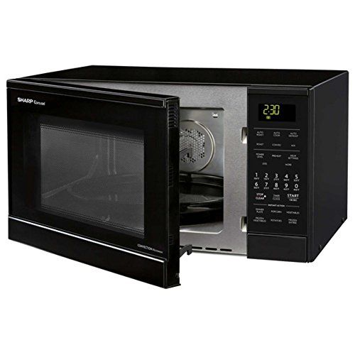 Sharp 0 9 Cu Ft 900w Countertop Microwave By Oven Black