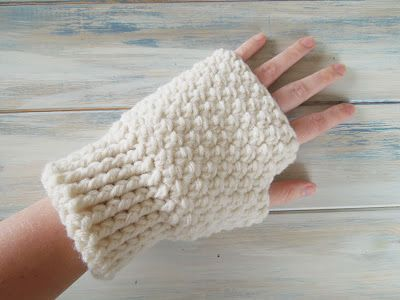 Happy Berry Crochet: How To - Crochet Finger-less Mitten Gloves ...