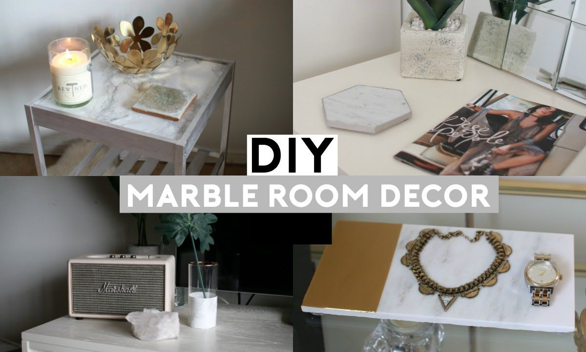 Diy Marble Room Decor Featuring A Nightstand A Tray A Vase A Coaster With Images Marble Room Decor Marble Room Diy Marble