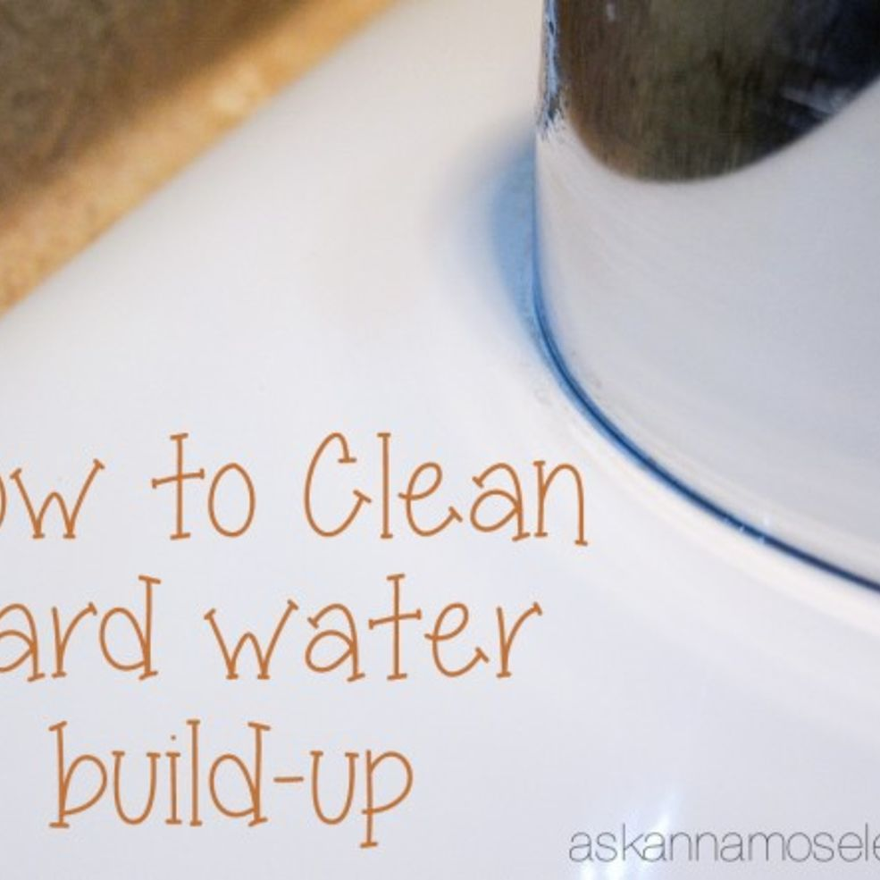 Cleaning Hard Water Spots Naturally | Hard water spots, Hard water ...