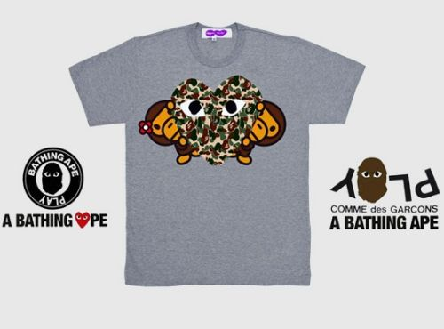 70a3206b A Bathing Ape x Comme des Garcons PLAY Collection   Fashion ...