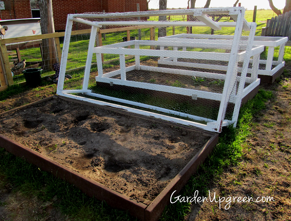 Gardening with covered raised beds wire covers gardens for How to protect your garden from animals
