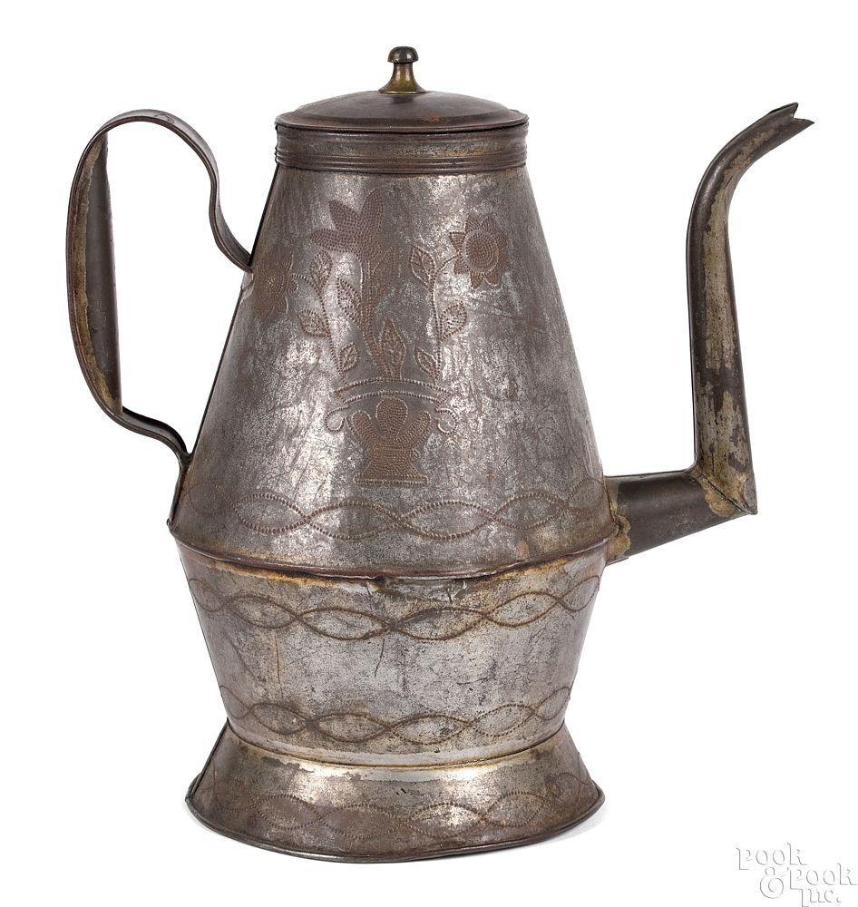 Pennsylvania wrigglework tin coffee pot in 2020 Coffee