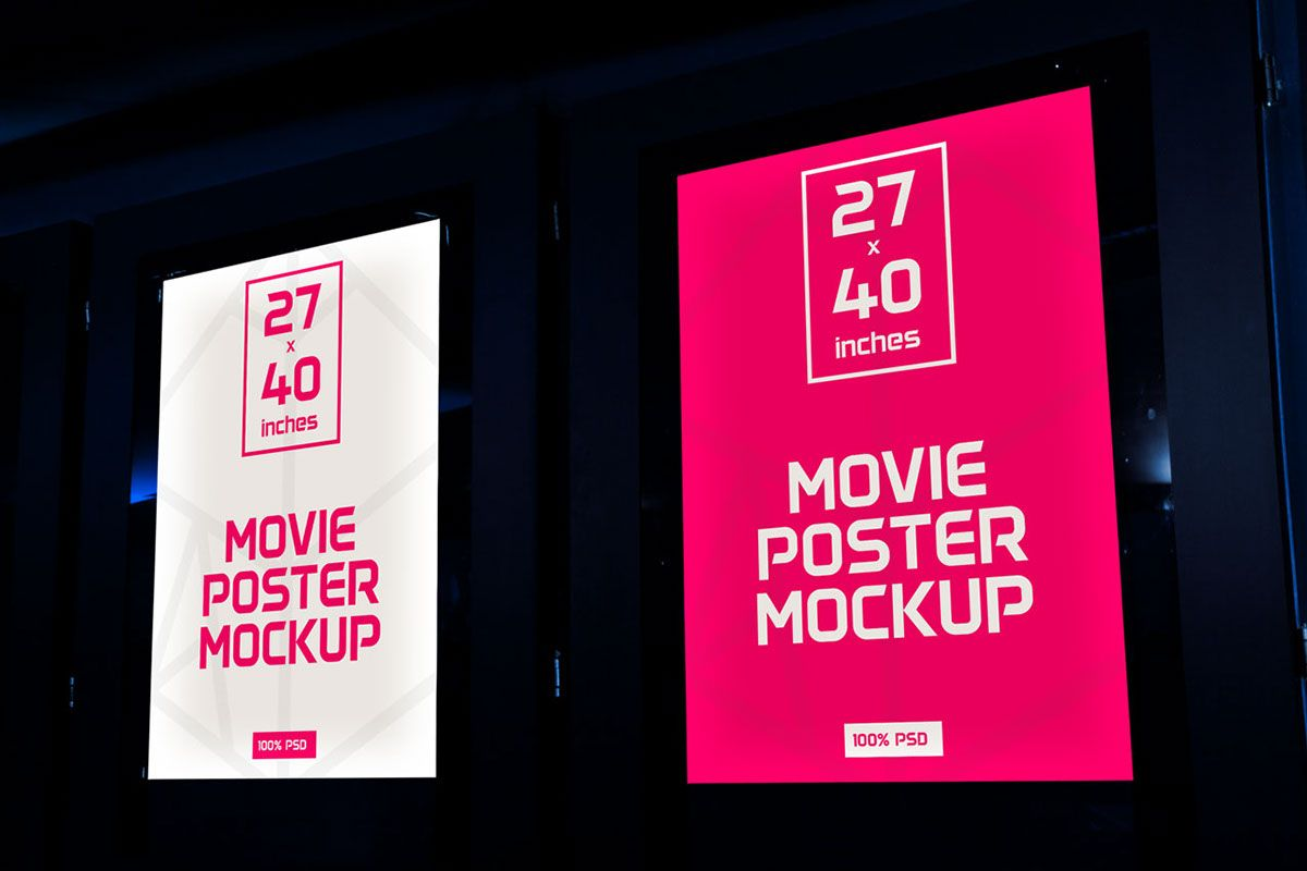 Free Movie Poster Mockup On Behance Poster Mockup Poster Mockup Psd Poster Mockup Free