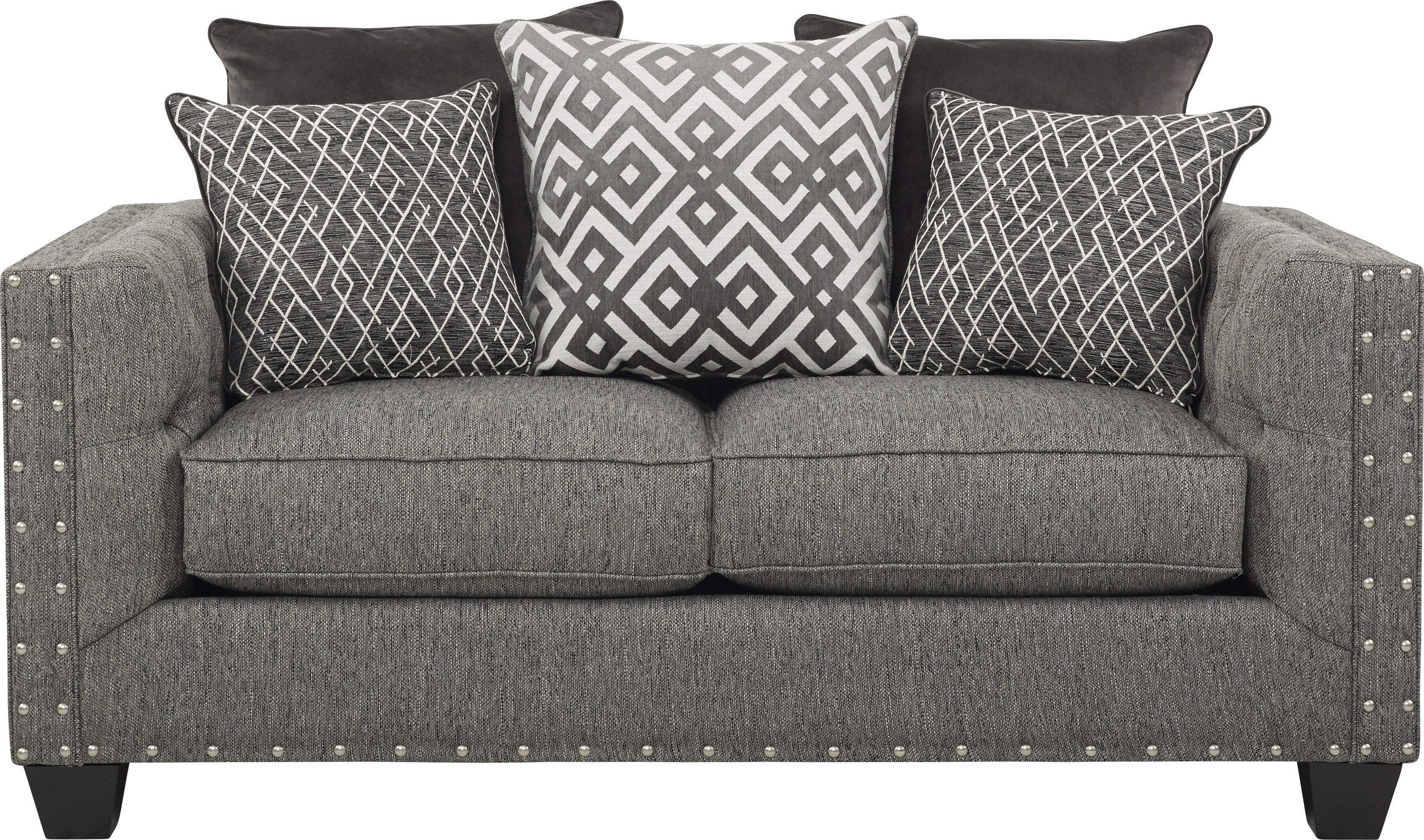 Astonishing Cindy Crawford Home Chelsea Hills Gray Loveseat In 2019 Creativecarmelina Interior Chair Design Creativecarmelinacom