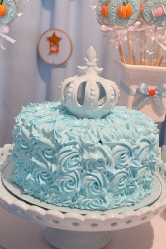 Simple Cinderella cake PARTY TIME Pinterest Birthdays