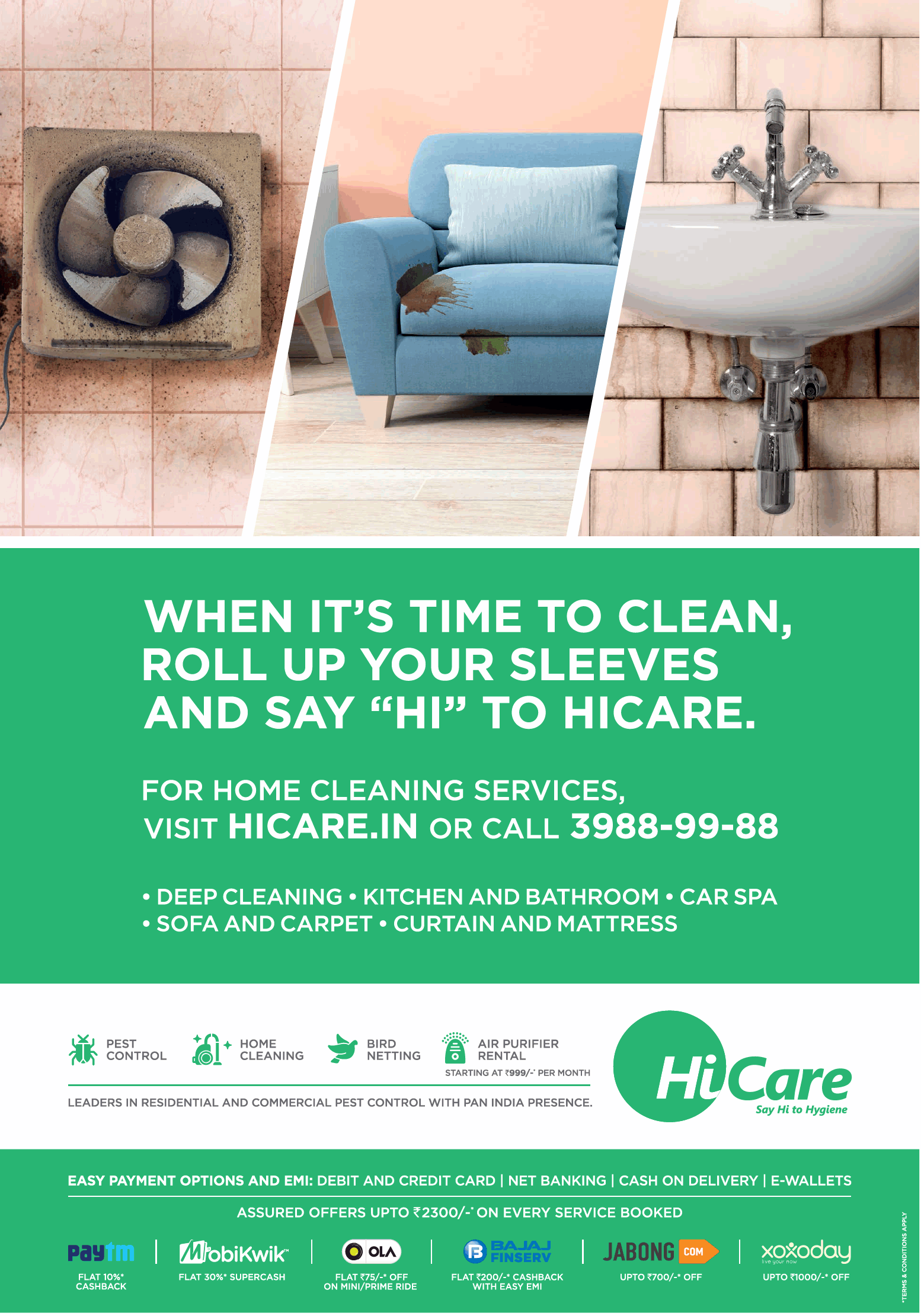 Hicare, India's no. 1 home and commercial hygiene brand