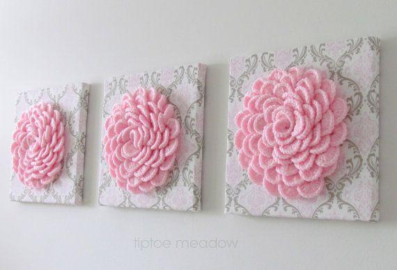 Crochet flowers x 10