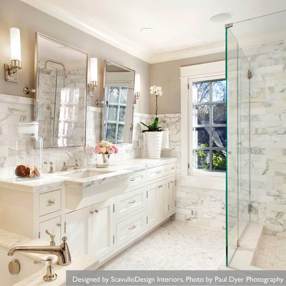 white marble bathrooms