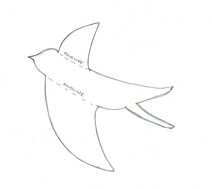 Paper Bird Pattern  Free Download  Crafts    Paper